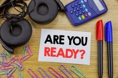 Writing teksta seans Jest Tobą Przygotowywającym Biznesowy pojęcie dla Przyszłościowego przygotowanie planu pisać na kleistym nut obrazy stock