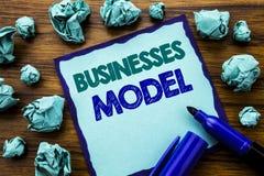 Writing teksta seansu biznesów model Biznesowy pojęcie dla projekta Dla biznesu Pisać na kleistym nutowym papierze, drewniany tło Obraz Stock