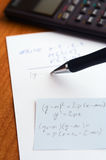 Writing test at school Royalty Free Stock Image