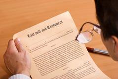 Writing Testament Royalty Free Stock Photos