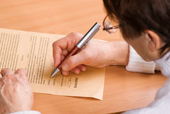Writing Testament Stock Photo