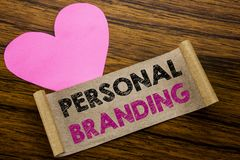 Writing text showing Personal Branding. Business concept for Brand Building written on sticky note paper, wooden wood background. Writing text showing Personal royalty free stock photo