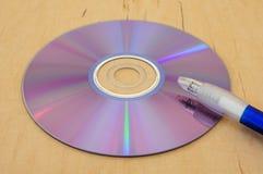 Writing to disc 3 Stock Photo