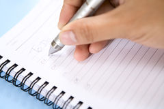 Writing on to do list Royalty Free Stock Photos