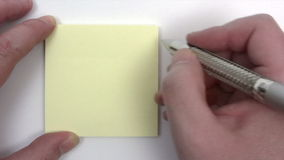 Writing a To Do List stock video