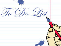 Writing a to do list Royalty Free Stock Photo