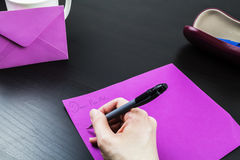 Writing to a Pen Pal Stock Image