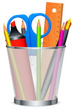 Writing tools. Writing and drawing tools in the cup Stock Photography