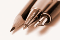 Writing tools Royalty Free Stock Photos