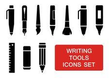 Writing tools set Royalty Free Stock Image