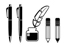 Writing tools Stock Image