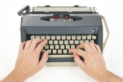 Writing with typewriter Royalty Free Stock Photography