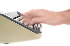 Writing with typewriter Stock Photo