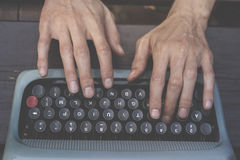 Writing with a typewriter Stock Image