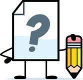 Writing Unkown File. A cartoon illustration of an unknown file with a pencil Royalty Free Stock Photos