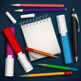 Writing utensils. Royalty Free Stock Photography