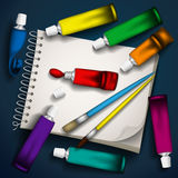 Writing utensils. Royalty Free Stock Images