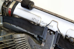 Writing on vintage typewriter Royalty Free Stock Photo