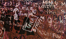 Writing on the Wall Stock Image
