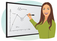 Writing on the whiteboard Royalty Free Stock Images