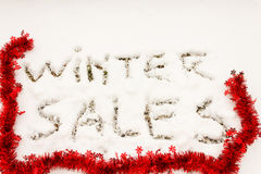 The writing winter sales Royalty Free Stock Photos