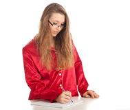Writing woman Stock Photo