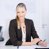 Writing woman Stock Photo
