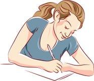 A writing woman Royalty Free Stock Photos