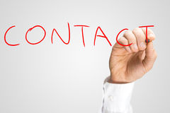 Writing word Contact Royalty Free Stock Photography