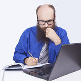 Writing and working - Businessman (Series) Royalty Free Stock Photo