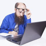 Writing and working - Businessman (Series) Stock Image