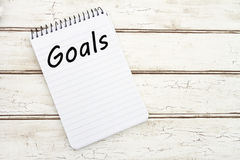 Writing Your Goals Stock Image