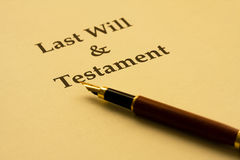 Writing Your Will royalty free stock photography