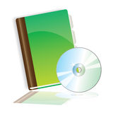 Writingbook and CD Royalty Free Stock Photography