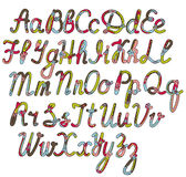 Written alphabet in christmas colors Royalty Free Stock Photos