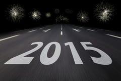 2015 written on asphalt Royalty Free Stock Image
