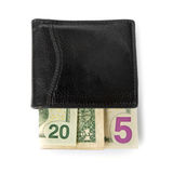2015 written with banknotes in a purse Royalty Free Stock Photo