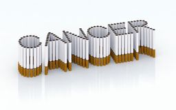 Written cancer with cigarettes. Stop smocking please Royalty Free Stock Photography