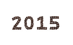 '2015' written with coffee beans Stock Photography