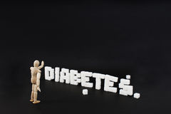 Written diabetes Royalty Free Stock Photography