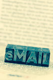 Written email in lead letters Royalty Free Stock Photography