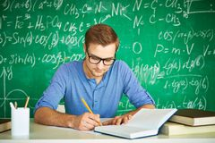 Written exam Royalty Free Stock Photo