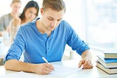 Written exam Stock Photography