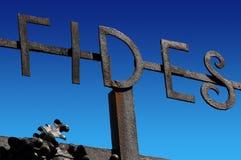 Written Fides (Faith) - Wrought Iron Stock Photography