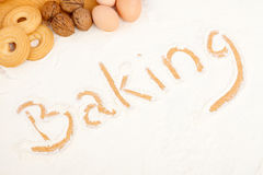 Written in flour - Baking Royalty Free Stock Photos
