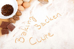 Written in flour - baking, backen, cuire Stock Photos