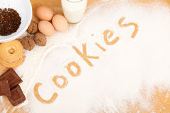 Written in flour - cookies Royalty Free Stock Photo