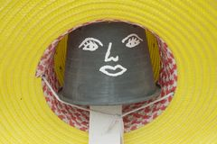 Written on a flower pot hat, decorate the garden. Royalty Free Stock Photo