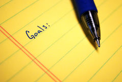 Written Goals Royalty Free Stock Photos