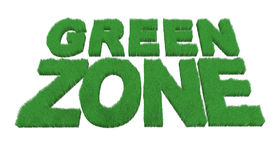 Written green zone made with grass Stock Photos